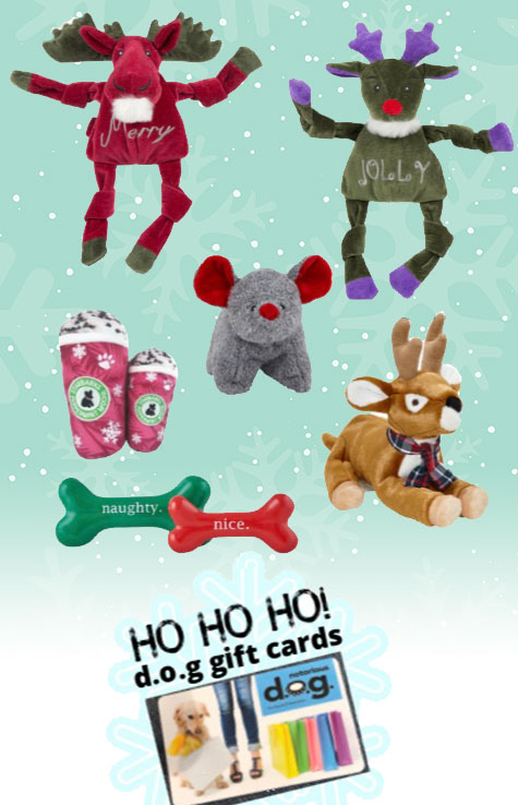 notorious DOG holiday toys and gift cards