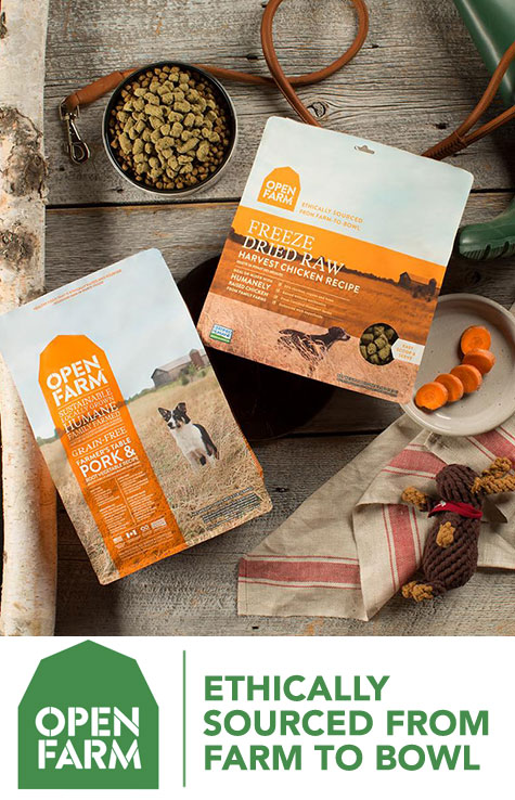 Open Farm pet food ETHICALLY SOURCED FROM FARM TO BOWL